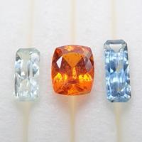 【11/15更新】カイヤナイト3石セット 0.881ctルース