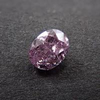 【1/26掲載】ピンクダイヤモンド 0.129ctルース(FANCY PURPLISH PINK   , SI2)