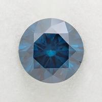 【9/5掲載】ブルーダイヤモンド (トリートメント) 0.636ctルース(Treted FANCY DEEP GREEN BLUE, SI1)