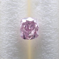 【3/21更新】ピンクダイヤモンド 0.096ctルース(FANCY PURPLE PINK, I1)