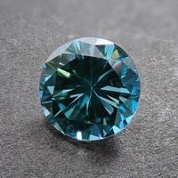 【12/4掲載】グリーンダイヤモンド 0.541ctルース(トリートメント,Treted FANCY DEEP BLUE GREEN, VVS2)