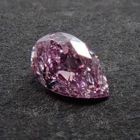 【1/18更新】ピンクダイヤモンド 0.068ctルース(FANCY INTENSE PURPLISH PINK   , I1)