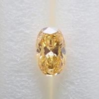【5/15掲載】イエローダイヤモンド 0.089ctルース(FANCY INTENSE ORANGY YELLOW, SI1)