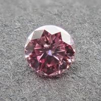 【10/10掲載】ピンクダイヤモンド 0.059ctルース(FANCY PURPLISH PINK, SI1)