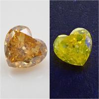 【11/7更新】イエローダイヤモンド 0.142ctルース(FANCY DEEP ORANGY YELLOW, I1)