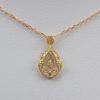 【12/23掲載】K18ダイヤモンド0.01ct ペンダント(ネックレス)