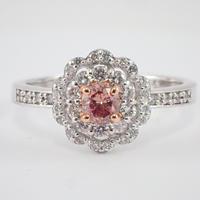 【2/9更新】Pt900/K18PGピンクダイヤモンド0.243ct リング(Fancy Deep Brownish Orangy Pink,SI-1)