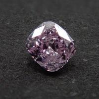 【2/19更新】ピンクダイヤモンド 0.115ctルース(FANCY PURPLE PINK, I1)