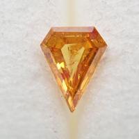 【11/5掲載】オレンジダイヤモンド 0.057ctルース(FANCY DEEP YELLOW ORANGE, I1)