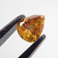 【10/30掲載】イエローダイヤモンド 0.087ctルース(FANCY DEEP ORANGE YELLOW, I1)