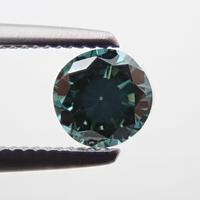 【8/7掲載】グリーンダイヤモンド (トリートメント) 0.298ctルース(Treted FANCY DEEP BLUE GREEN, VS1)