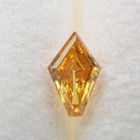 【10/30掲載】イエローダイヤモンド 0.053ctルース(FANCY DEEP ORANGY YELLOW, SI2)