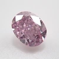 【9/30更新】ピンクダイヤモンド 0.129ctルース(FANCY PURPLISH PINK   , SI2)
