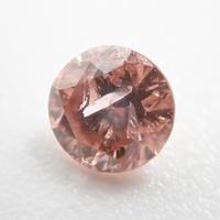 【2/15掲載】ピンクダイヤモンド 0.100ctルース(FANCY DEEP BROWN ORANGY PINK, I2)