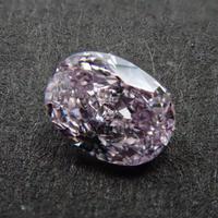 【8/2更新】ピンクダイヤモンド 0.133ctルース(FANCY LIGHT PURPLE PINK   , SI1)