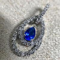 【11/28掲載】ptアウイナイト0.16ctダイヤモンドペンダント
