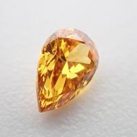 【2/3更新】オレンジダイヤモンド 0.081ctルース(FANCY VIVID YELLOW ORANGE, SI2)