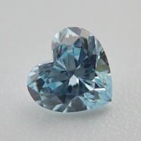 【4/11掲載】ハートシェイプダイヤモンド(アイスブルー)0.105ctルース