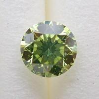 【11/7更新】ダイヤモンド (トリートメント) 0.388ctルース(Treted FANCY VIVID YELLOWISH GREEN, VS2)