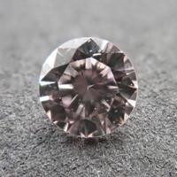 【4/1掲載】ピンクダイヤモンド 0.076ctルース(LIGHT ORANGY PINK, SI1)