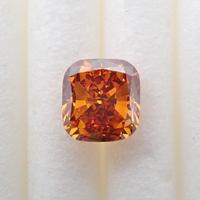 【7/4掲載】オレンジダイヤモンド 0.501ctルース(FANCY DEEP BROWNISH YELLOWISH ORANGE, SI2)