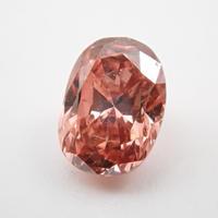 【2/15掲載】ピンクダイヤモンド 0.379ctルース(FANCY DEEP BROWNISH ORANGY PINK, SI2)