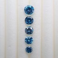 【8/3掲載】ブルーダイヤモンド5石セット 0.446ct(トリートメント)
