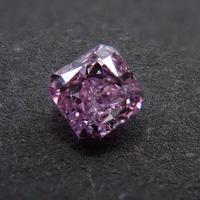 【2/5更新】ピンクダイヤモンド 0.138ctルース(FANCY PURPLE PINK, I1)