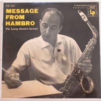 The Lenny Hambro Quintet ‎– Message From Hambro(Columbia ‎– CL 757)mono