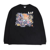 OILWORKS L/S T-SHIRTS (Spirit in the Darkness) BLACK