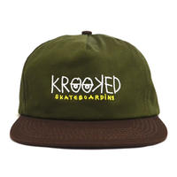 KROOKED SNAPBACK (EYES) OLIVE BROWN
