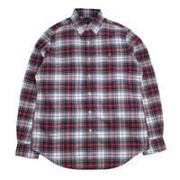 POLO RALPH LAUREN L/S CHECK SHIRTS (CLASSIC FIT) RED/BLUE