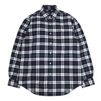 POLO RALPH LAUREN L/S CHECK SHIRTS (CLASSIC FIT) NAVY/WHITE