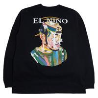 OILWORKS L/S T-SHIRTS (EL NINO MIX TAPE) BLACK