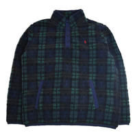 POLO RALPH LAUREN (PULL OVER FLEECE) GREEN CHECK