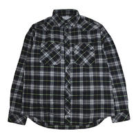 PROCLUB (L/S FLANNEL SHIRTS) BLACK/CHECK