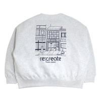 re:create CREWNECK SWEAT (Comfort Zone) ASH GREY