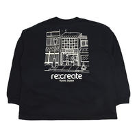 re:create L/S T-SHIRTS (Comfort Zone) BLACK