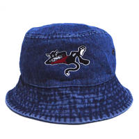 OldGoodThings BUCKET HAT (WHY THE RUSH?) BLUE DENIM