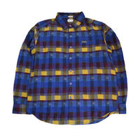 COLUMBIA L/S CHECK SHIRTS (BOULDER RIDGE) BLUE