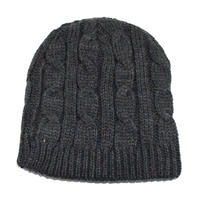 NEW YORK HAT (CABLE BEANIE) CHARCOAL