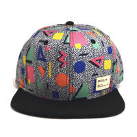 BROOKLYN HAT CO. STRAP BACK (GEOMETORY) BLACK