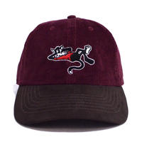 OldGoodThings ORIGINAL 2TONE B.B CAP (WHY THE RUSH?) BURGUNDY/BROWN