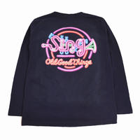 OldGoodThings L/S T-SHIRTS (Sing-Neon) NAVY