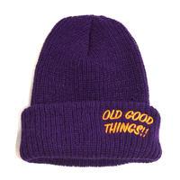 OldGoodThings WATCH CAP(GOOD PLAYER) PURPLE