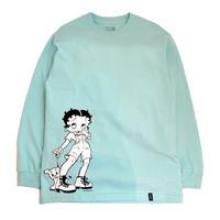 HUF L/ST-Shirts (HUF x BETTY BOOP(DOWN TOWN)) CELADON
