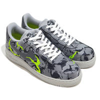 NIKE (AIR FORCE 1 07 LX) L.GREY/E.GREEN
