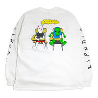 RIPNDIP L/S T-SHIRTS (BUTTS UP) WHITE