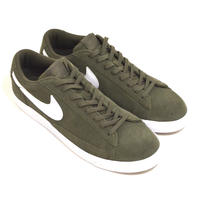 NIKE (BLAZER LOW) OLIVE/WHITE