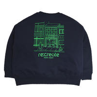 re:create ORIGINAL CREWNECK SWEAT (Comfort Zone) NAVY